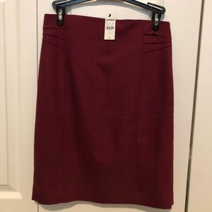 NWT Express Red Maroon Pencil Skirt Size 4